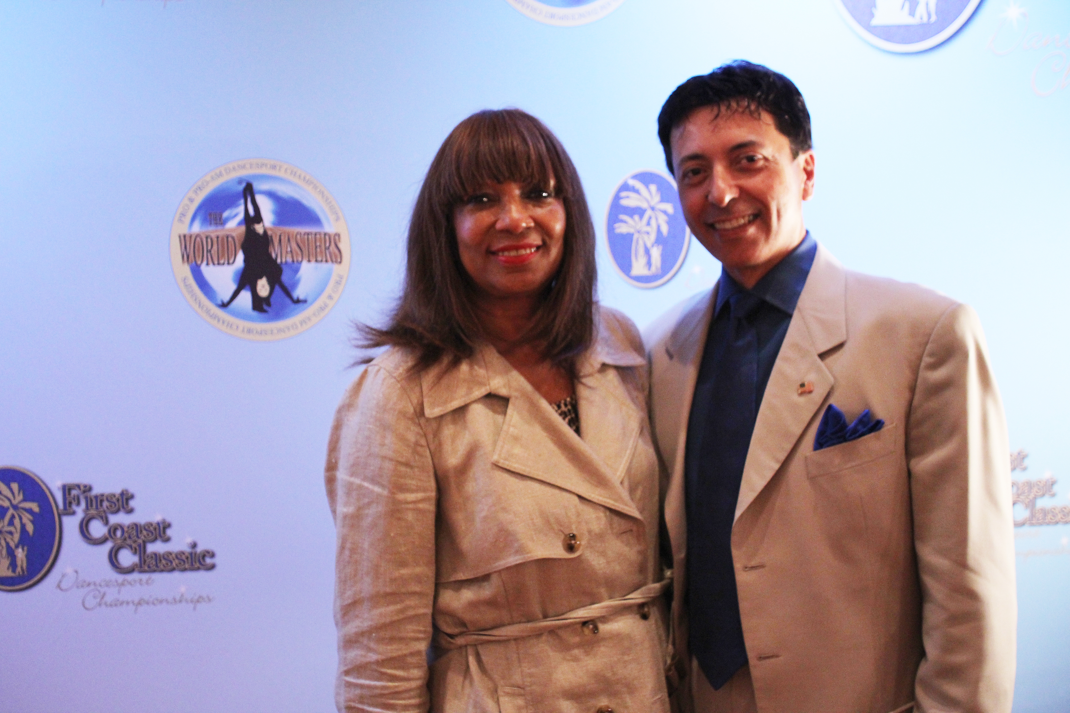 Beryle I. Baker with Sarwat Kaluby, host of First Coast Classic and Ohio Star Ball; Photo by Gift Star Productions